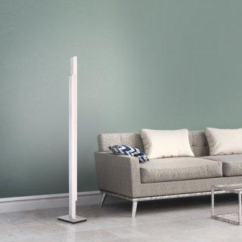 Paul Neuhaus Q-TOWER Floor Lamp LED aluminium, 2-light sources, Remote control