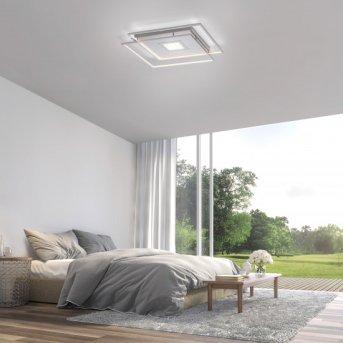 Paul Neuhaus Q-AMIRA Ceiling Light LED matt nickel, 1-light source, Remote control