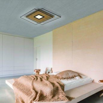 Paul Neuhaus Q-AMIRA Ceiling Light LED Light wood, 1-light source, Remote control