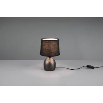 Reality Malu Table lamp matt nickel, dark brown, 1-light source