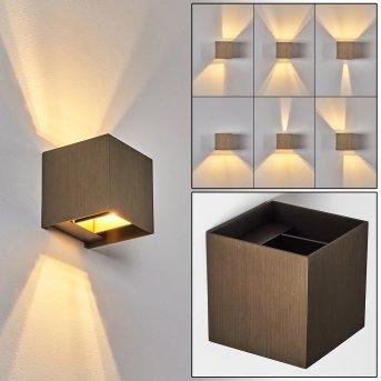 Badajoz Wall Light LED brown, 1-light source