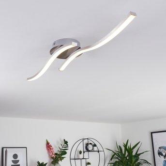 Grossarl Ceiling Light LED matt nickel, 2-light sources