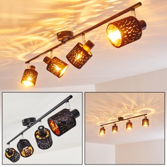 Liared Ceiling light black, 4-light sources