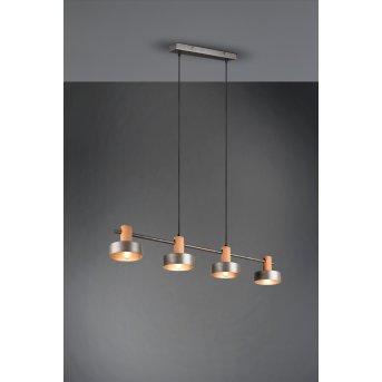 Trio Gaya Pendant Light matt nickel, dark brown, 4-light sources