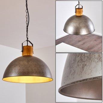 Pendant Light Tholen silver, brown, 1-light source