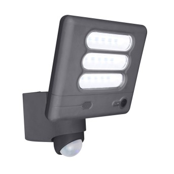 Lutec ESA CAM Outdoor Wall Light LED anthracite, 1-light source, Motion sensor