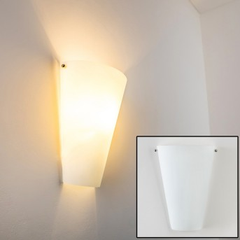 Zera wall light aluminium, white, 1-light source