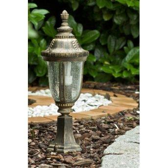 Orion outdoor pedestal light brass, gold, transparent, clear