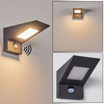 Matlava Outdoor Wall Light LED anthracite, white, 1-light source, Motion sensor