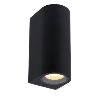 Lucide ZARO Outdoor Wall Light black, 2-light sources