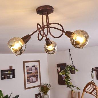 Warga Ceiling Light LED bronze, 3-light sources