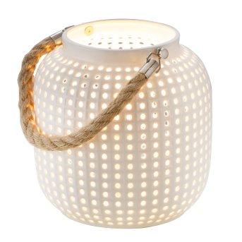 Nino-Leuchten BOLA Table lamp brown, white, 1-light source