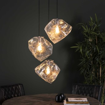 MARORE Pendant Light silver, 3-light sources