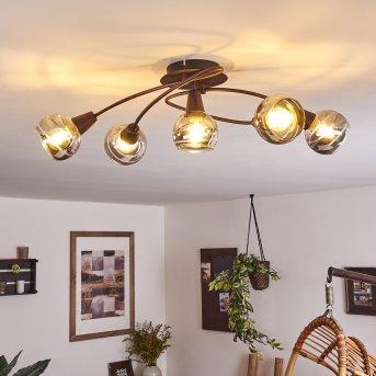 Warga Ceiling Light LED bronze, 4-light sources