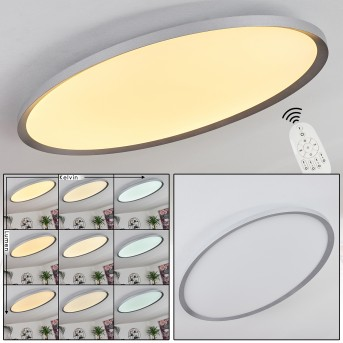 Kombito Ceiling Light LED silver, white, 1-light source, Remote control
