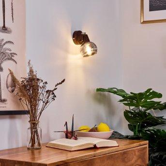 Warga Wall Light LED bronze, 1-light source