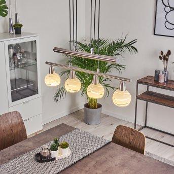 Warga Pendant Light LED matt nickel, 4-light sources
