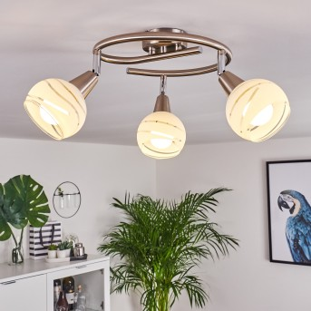 Warga Ceiling Light LED matt nickel, 3-light sources