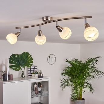 Warga Ceiling Light LED matt nickel, 4-light sources