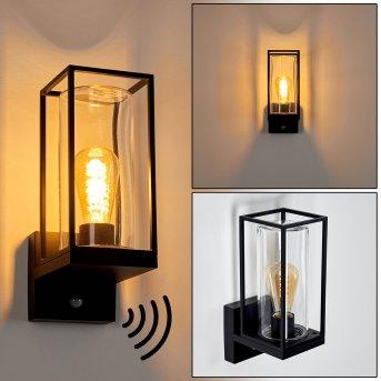Palanga Outdoor Wall Light black, 1-light source, Motion sensor