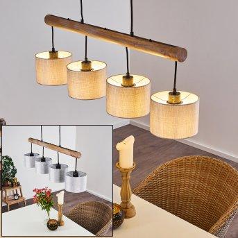 Adelboden Pendant Light black, Light wood, 4-light sources