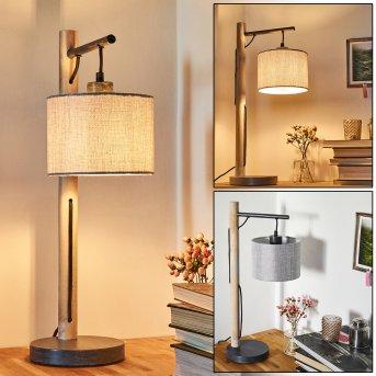 Adelboden Table lamp black, Light wood, 1-light source