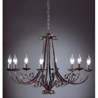 Honsel PISA Chandelier black, 8-light sources