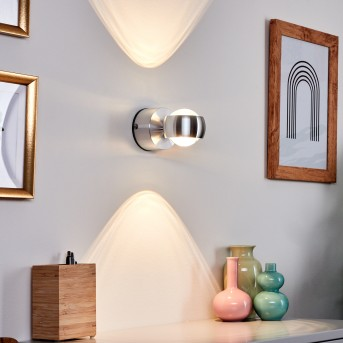 Florenz bathroom light LED aluminium, 2-light sources