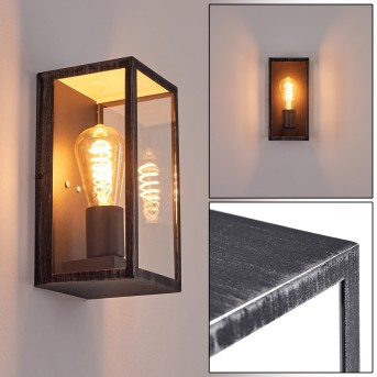 Hamra Outdoor Wall Light black, silver, 1-light source