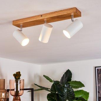 Zuoz Ceiling Light Light wood, 3-light sources