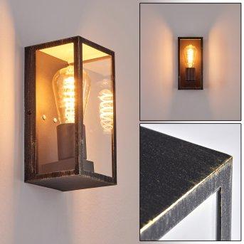 Hakkas Outdoor Wall Light black-gold, 1-light source