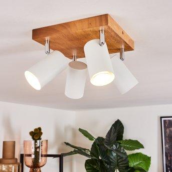 Zuoz Ceiling Light Light wood, 4-light sources