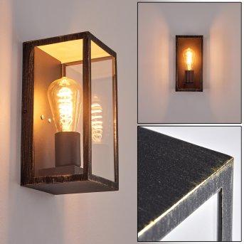 Hamra Outdoor Wall Light black-gold, 1-light source