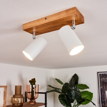 Zuoz Ceiling Light Light wood, 2-light sources