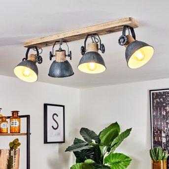 Orny Ceiling Light grey, Light wood, 4-light sources