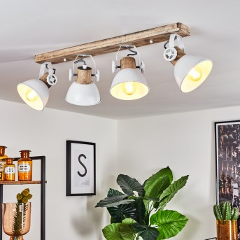 Orny Ceiling Light white, Light wood, 4-light sources
