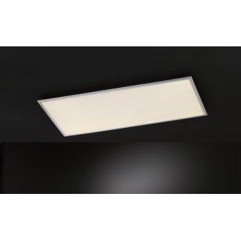 Wofi MILO ceiling light LED silver, 1-light source, Remote control, Colour changer