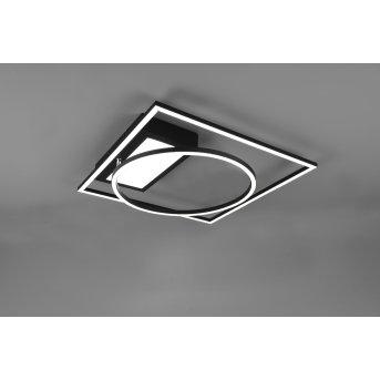 Trio Downey Ceiling Light LED black, 1-light source, Remote control