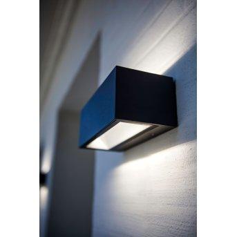 Lutec GEMINI Outdoor Wall Light LED black, 2-light sources