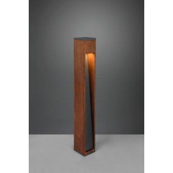Trio Canning path light matt nickel, Dark wood, 1-light source