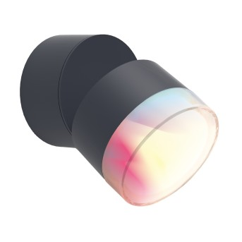 Lutec DROPSI Outdoor Wall Light LED anthracite, 1-light source, Colour changer