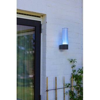 Lutec DROPA Outdoor Wall Light LED anthracite, 1-light source, Colour changer