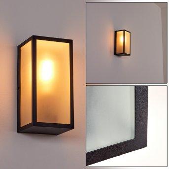 Hakkas Outdoor Wall Light black, 1-light source