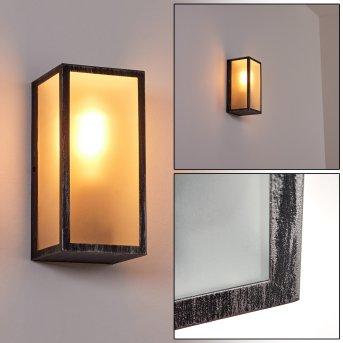Hakkas Outdoor Wall Light black, silver, 1-light source