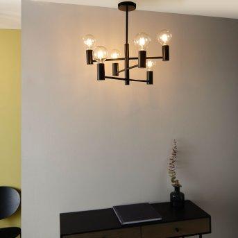 Brilliant Orazio chandelier black, 6-light sources