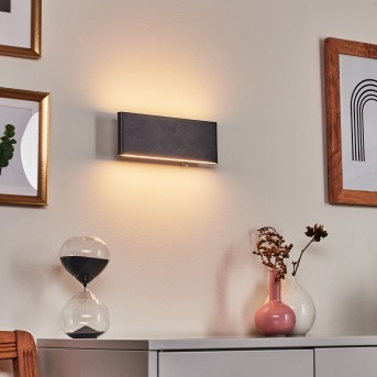 Mosambik Wall Light LED black, white, 1-light source