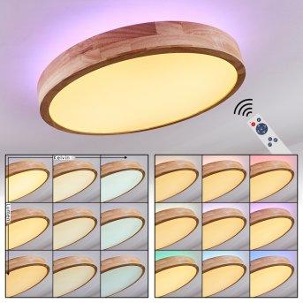 Batamoto Ceiling Light LED Light wood, 2-light sources, Remote control