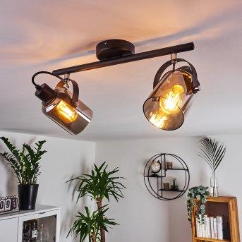 Quieri Ceiling Light black, 2-light sources