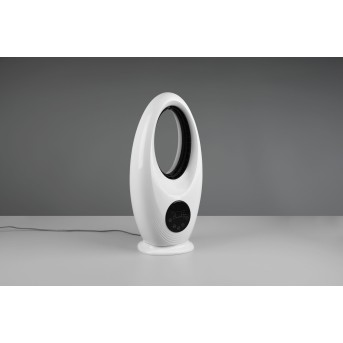 Reality Kalmar standing fan LED black, white, 1-light source, Remote control, Colour changer