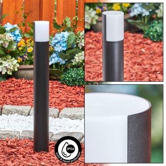 Baulund path light LED black, 1-light source